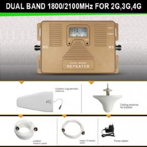 Комплект на 2 диапазонном репитере ANTj 1800/2100 МГц