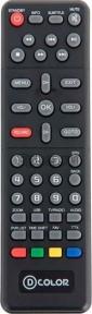 Пульт DC802HD DVB-T2 для ресивера D-color