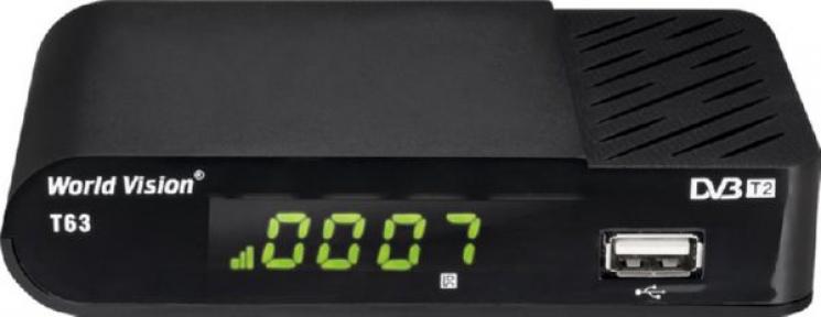Ресивер эфирный WV T63, HDMI, RCA, USB, диспл.