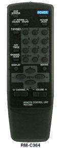 Пульт для JVC RM-C364GY TV черный