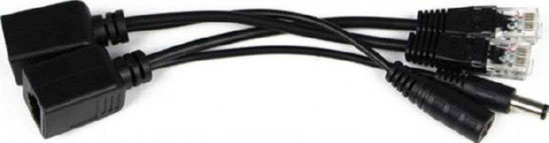 Комплект POE сплиттер + инжектор черный