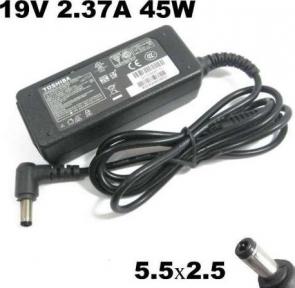 Блок питания для ноутбука Toshiba 19V 2,37A 5,5х2,5 мм + сетевой кабель