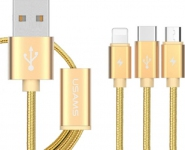 USB кабель 3 в1 iPhone 5, micro USB, USB 3.1 type-C